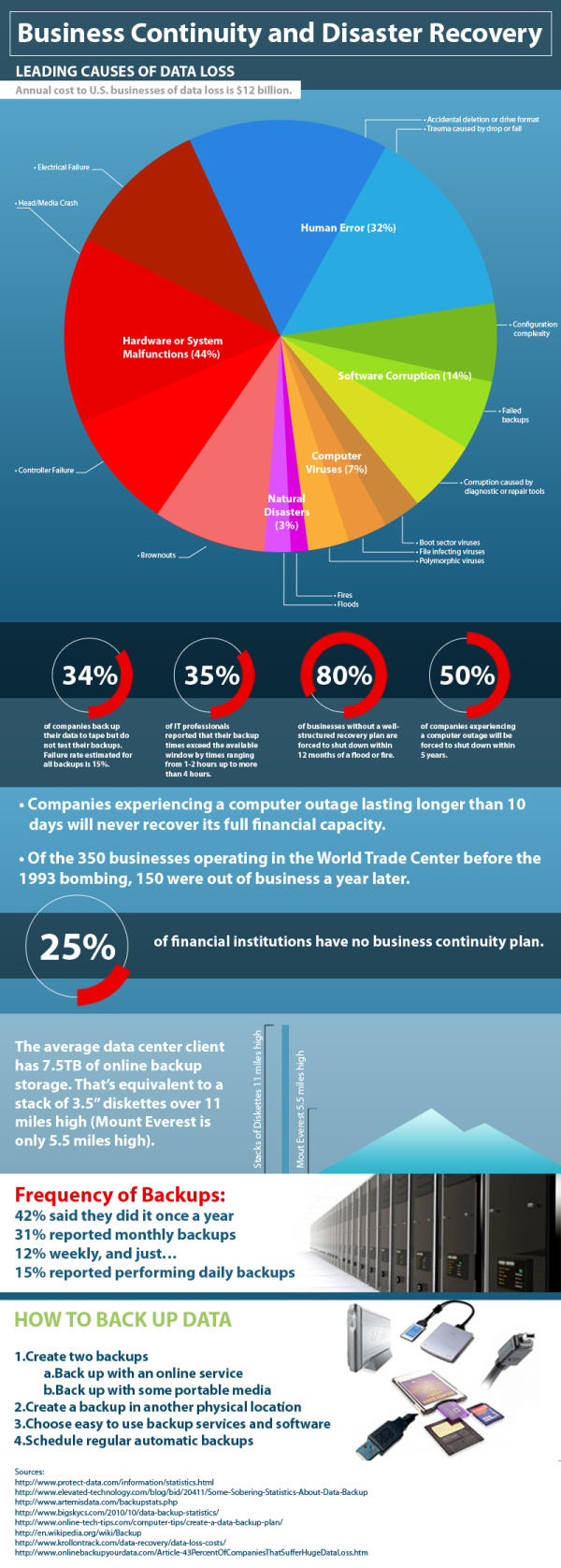 Business Continuity Infograph by Dell