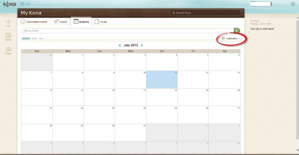 Deltek Kona Calendar
