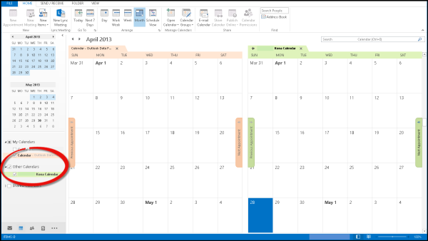 Outlook Calendar Integration