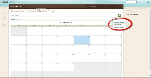 Deltek Kona Calendar, Instructions