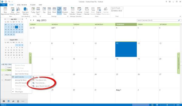 Deltek Kona, Kona, Calendar Integration, Internet Calendar