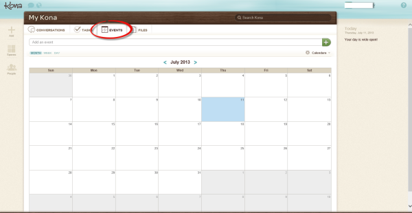 Kona Calendar