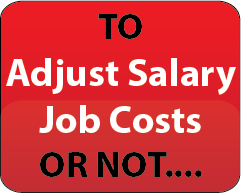 Adjust Salary Job Cost