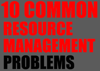 Resource Management, Resource Management Problems, ERP, Deltek Vision
