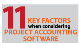 Project accounting software