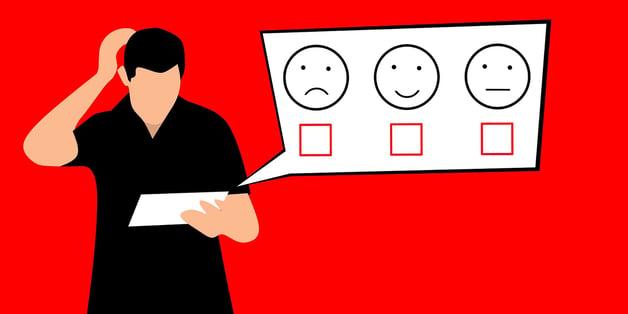 Client taking survey