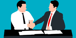 Business associates agreeing to a plan