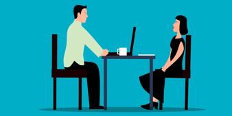 Employee meeting with supervisor