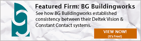 BG Buildingwork's utilizes the Deltek Vision Constant Contact Integration